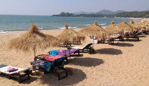 yoga-holidays-india-sunbeds-on-patnem